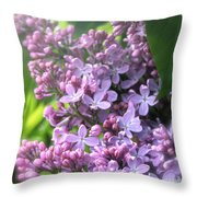 Lilacs On A Misty Morning Throw Pillow