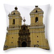 Lima Peru Church Throw Pillow