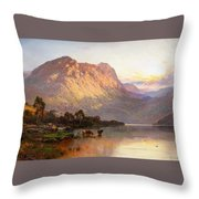 Loch Lomond And A Trout Stream Throw Pillow