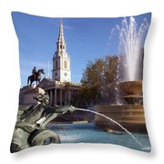 London - Trafalgar Square  Throw Pillow