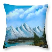 Lost Blue Lagoon Dreamy Mirage Throw Pillow