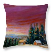 Lovely Sweeping Skies  Throw Pillow