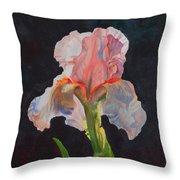 Majestic Iris Throw Pillow
