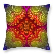 Mandala For Awakening The Creative Energy Throw Pillow