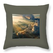 Man's Celestial Choir Throw Pillow