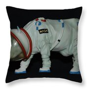 Maurice The Space Cow Boy Throw Pillow