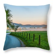 May Morning In The Cove Throw Pillow