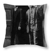 Men Males In Suits Standing Doorway June 1927 Throw Pillow