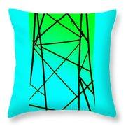Metal Frame Abstract Throw Pillow