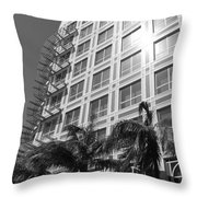 Miami House Throw Pillow