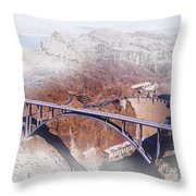 Mike O'callaghan Pat Tillman Memorial Bridge Throw Pillow