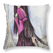 Mis Witch  Throw Pillow