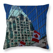 Modern Architecture - City Reflection Vancouver  Throw Pillow