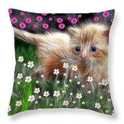 Mouse Hunter Throw Pillow