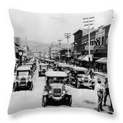 National Guard Unit In Town Circa 1925 Black Throw Pillow