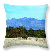 New Mexico Mountains Throw Pillow