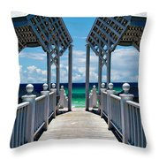 Oceanfront Pavilion Throw Pillow