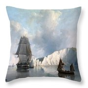 Off The Needles. Isle Of Wight Throw Pillow