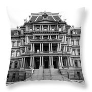 Old Executive Office Building Bw Throw Pillow