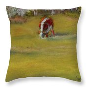 One Cow Throw Pillow