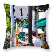 # One Stolen Sign Key West  Throw Pillow
