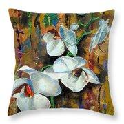 Orchid Yo Throw Pillow