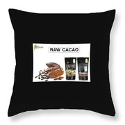 Organic Unroasted Cacao Powder Throw Pillow
