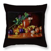 Pail Of Plenty Throw Pillow