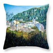 Papigno Village Throw Pillow