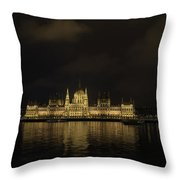 Parliament Budapest Throw Pillow