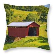 Parrish  Covered Bridge  Throw Pillow