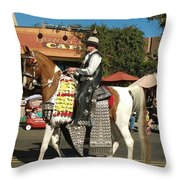 Perfect Cowboy Rider Throw Pillow