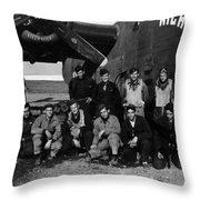 Pilot Crew W Airplane Nightmare 19411945 Black Throw Pillow