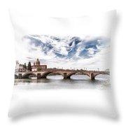 Ponte Alla Carraia, Firenze Throw Pillow