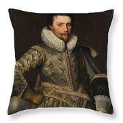 Portrait Of A Nobleman Throw Pillow