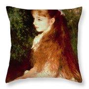 Portrait Of Mademoiselle Irene Cahen D'anvers Throw Pillow