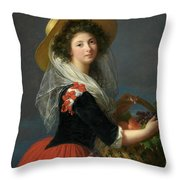 Portrait Of Marie Gabrielle De Gramont, Duchesse De Caderousse Throw Pillow