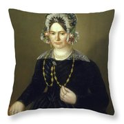 Portrait Of The Wife Of Israel  Throw Pillow