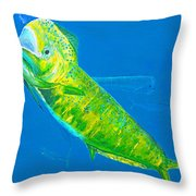 Prized Dolphin Painting Throw Pillow