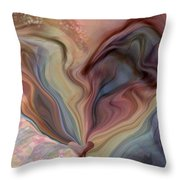 Psychedelic Heart Throw Pillow