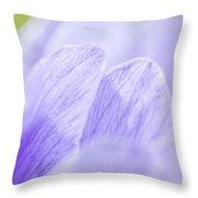 Purple Anemone Flower  Throw Pillow