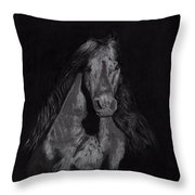Realistic Horse Throw Pillow