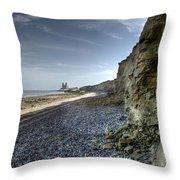 Reculver From Bishopstone Beach Throw Pillow