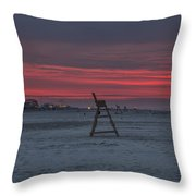 Red Sky In The Morning - Wildwood New Jersey Throw Pillow