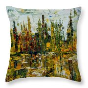 City Reflection Throw Pillow