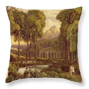 Religious Ceremony In Ancient Greece  Throw Pillow by Francis Oliver Finch