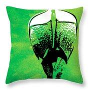Rhino Animal Decorative Green Poster 6 - By  Diana Van Throw Pillow