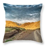 Road In The Mountains Throw Pillow