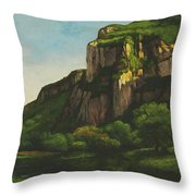 Rocks At Mouthier Throw Pillow