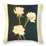 Roses In Full Bloom Throw Pillow